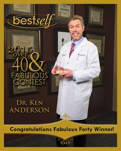 In 2015 Dr. Anderson was voted Over Forty and Fabulous by the readers of BestSelf.