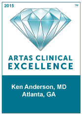 Dr. Anderson and the Anderson Center for Hair is the only provider of ARTAS robotic assisted hair transplant  but also a  Center of Clinical Excellence, which is ARTAS highest award for distinction in clinical excellence.