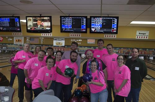 RPA 2015 Bowling for Boobs Champions!