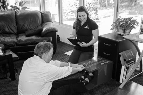 Sit & Reach assessment during Biometric Screening