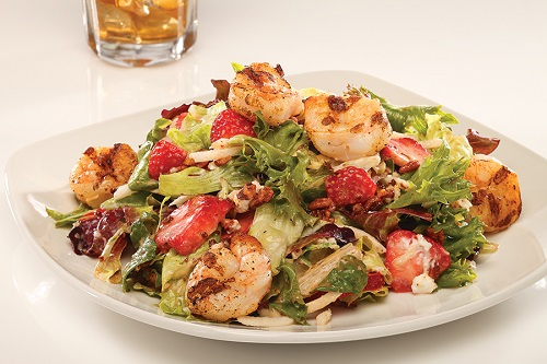 Grilled Shrimp & Strawberry Salad
