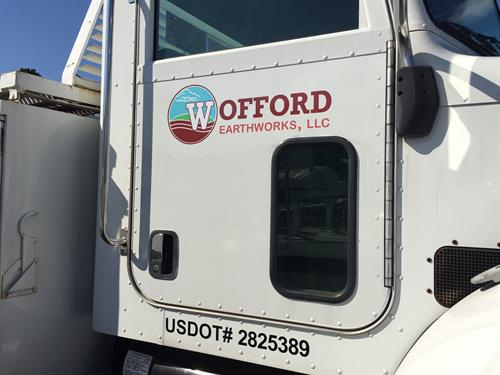 Look for our Wofford Earthworks truck in a neighborhood near you!
