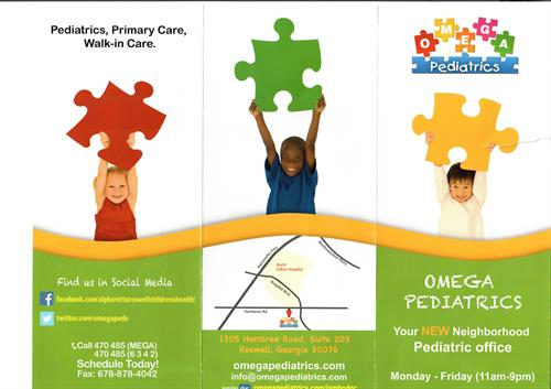 Another Omega Pediatrics flyer