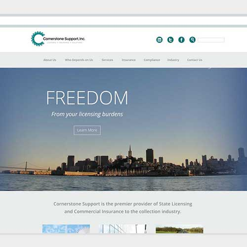 Website design for Cornerstone Support