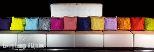 modern furniture, multi colored throw pillows