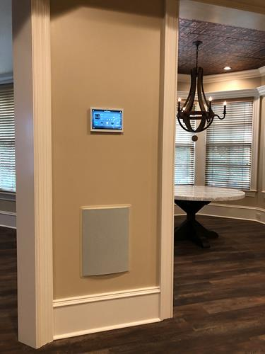 Touch Screen and In Wall Subwoofer
