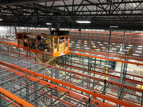 Half Of A Million Square Foot Distribution Center Buildout With Over 200,000 Feet Of Copper and Fiber