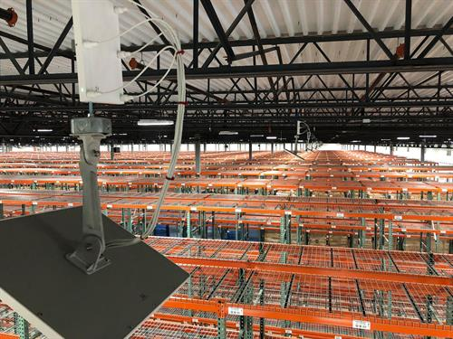 Over 100 WIFI Access Points On A Half Of A Million Square Foot Distribution Center Buildout With Over 200,000 Feet Of Copper and Fiber