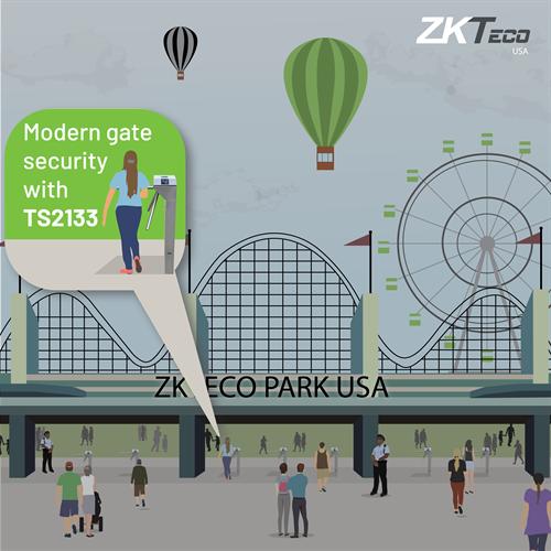 ZKTeco turnstiles in application