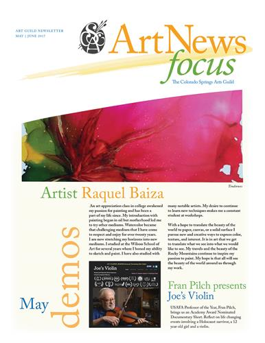 Newsletter Design Colorado Springs Art Guild