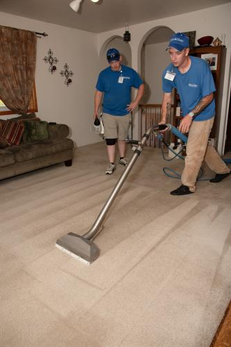 Dillon and Dakota  Steam Cleaning Carpet