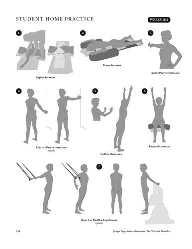 Yoga pose illustrations
