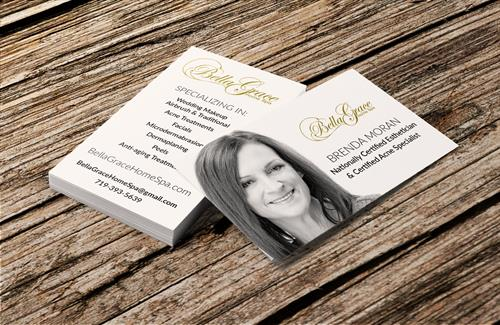 Bella Grace Home Spa Business Card Design