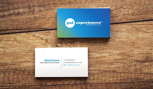 Pal Experiences Business Card Design
