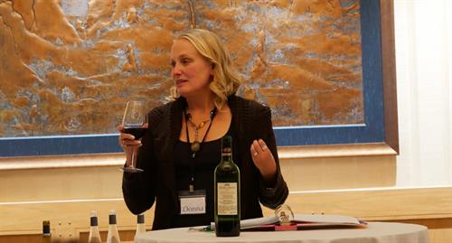 Donna introducing the wine metaphor at  the Life Strategy Retreat