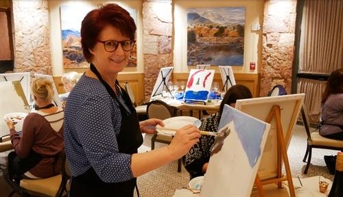 Painting workshop at the  the Life Strategy Retreat
