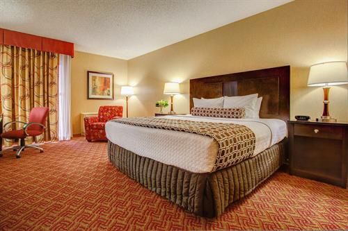 The comfortable rooms are spacious and make you feel at home.