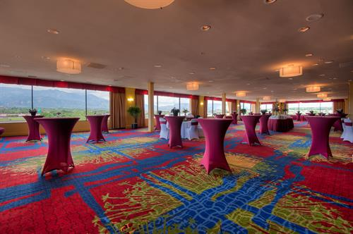 The Summit Ballroom has views of Pikes Peak and Down Town. It's a versatile space for any occasion.