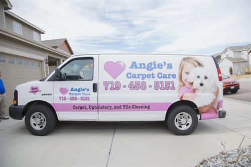 Angie's Carpet Cleaning Van