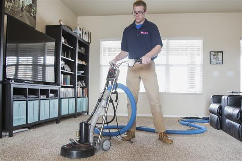 Using the Rotovac for a deep clean