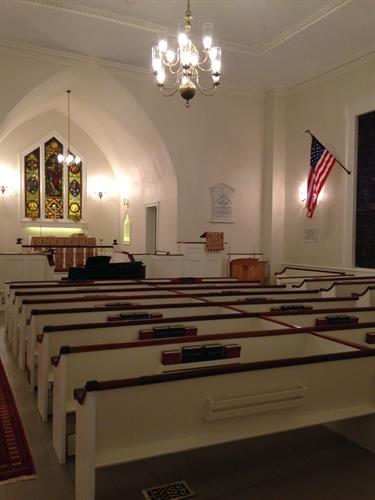 Our newly-restored sanctuary interior