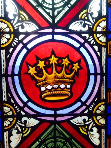 A panel from our stained glass windows