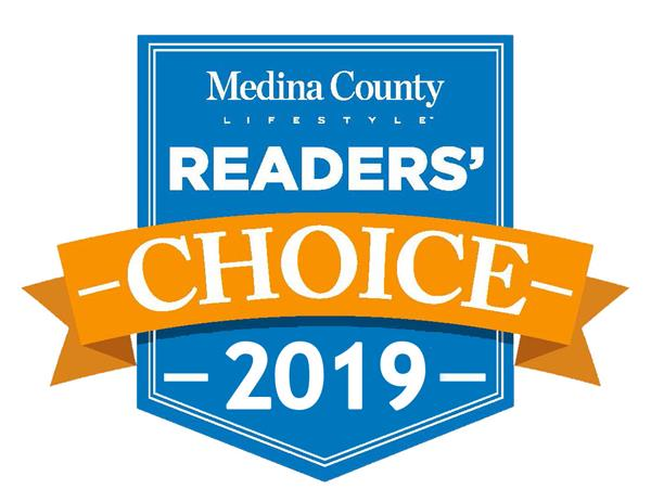 Medina County Lifestyle Magazine Readers' Choice Winner--2nd year in a row!