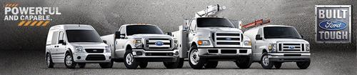 We are a Ford Authorized COMMERCIAL TRUCK Dealership...offering F-Series, dump trucks, utility bodies, vans, KUV's and more!