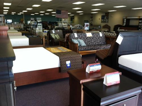 Our showroom features our store brand mattresses as well as TempurPedic and Pure Talalay Bliss mattresses.