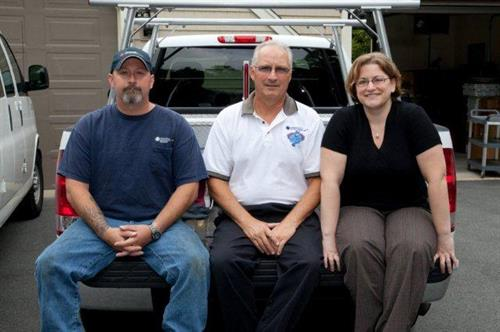 2nd Generation HVACR Contracting firm (Chris, Roger & Karen Lamy pictured)