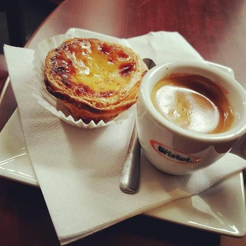 Espresso and pastel de nata....Perfect afternoon pick me up!