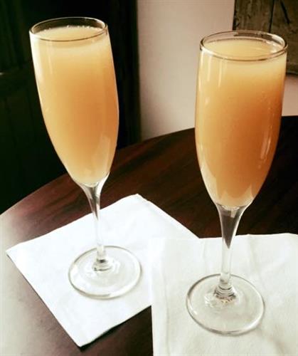 We serve beer, wine & mimosas!