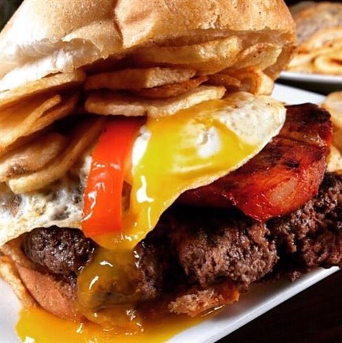 Our famous portuguese burger! Phantom Gourmet approved!!