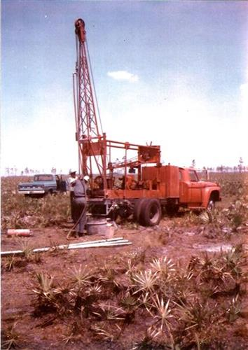 Russell V. Domer well drilling in Venus, Florida. May 26, 1967