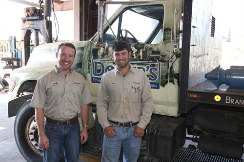 Justin and Jacob Domer; the fourth generation owners and operators of Domer's.