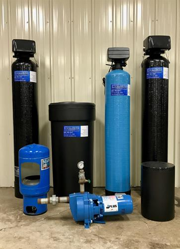 We install, service, and repair many types of water treatment.