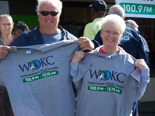 WOKC listeners show off their t-shirts!