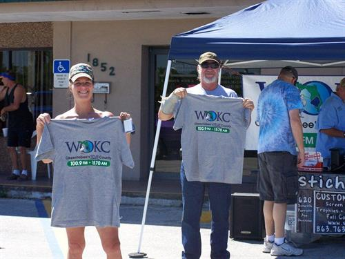WOKC listeners get t-shirts at local remotes!