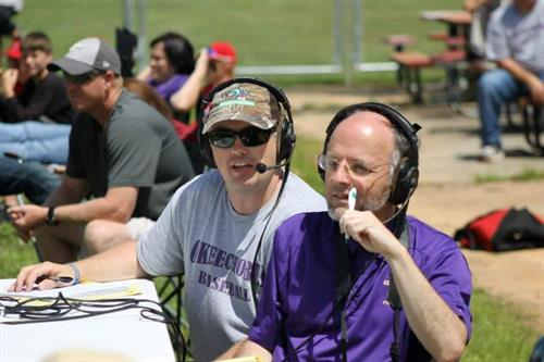 Ken Keller and Charles Murphy during our Baseball/Softball broadcasts in the 2017 season!