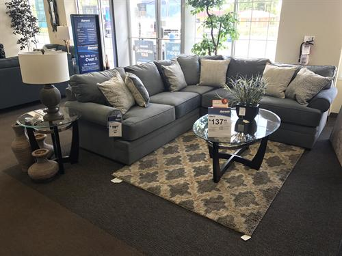 Simmons beautiful suede sectional!