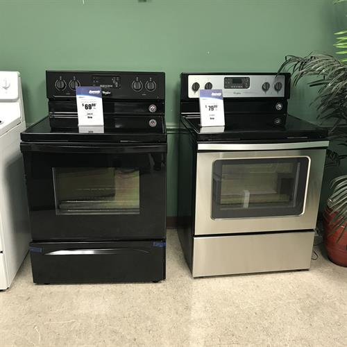 We carry stoves flattop or coil, black,white, stainless steal.