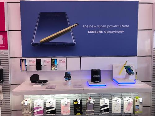 For all of you Samsung users stop by and check out our NOTE 9 and get details how you can get your's today.