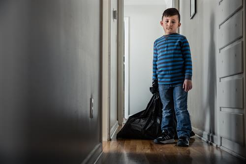 Many time when kids in foster care move from home to home all they have is a trash bag of items.