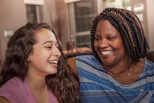 Our volunteers bond and build relationships with our kids!
