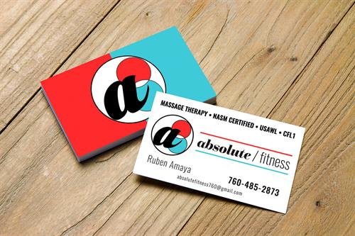 Business Card and Logo Design for Absolute Fitness