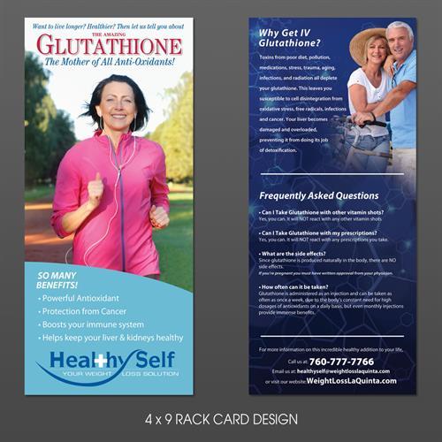 4 x 9 Rack Card Design for Healthy Self