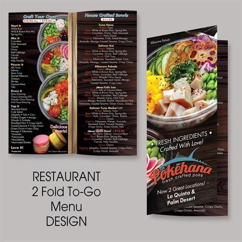 2 Panel Togo Menu Design for Pokéhana (LQ / PD)