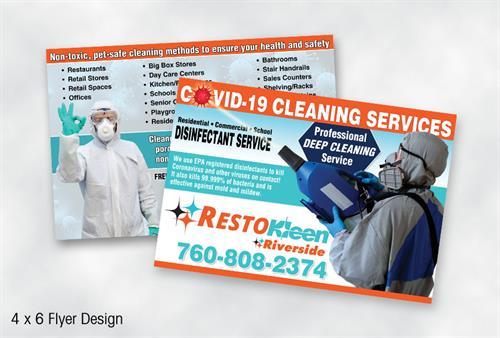 RestoKleen 4 x 6 Postcard Flyer Design