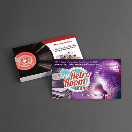 Business Card Design for Retro Room Lounge Palm Springs