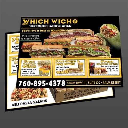 EDDM DIrect Mail Postcard Design for Which Wich - Palm Desert, CA